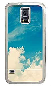 Samsung Galaxy S5 Beautiful Clouds With Stripes iOS754 PC Custom Samsung Galaxy S5 Case Cover Transparent
