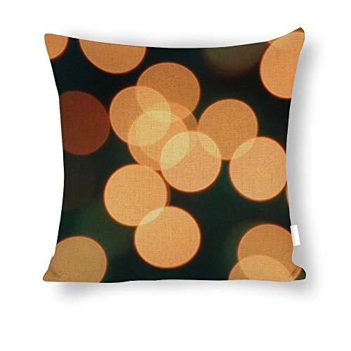 FGN Decorative Throw Pillow Covers 18x18 Inch Bokeh Light Wallpaper Cotton Linen Body Pillowcase Cushion Cover for Home Decor -