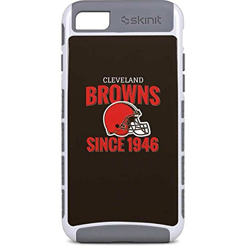 Skinit NFL Cleveland Browns iPhone 7 Cargo Case - Cleveland Browns Helmet Design - Durable Double Layer Phone Cover - Cleveland Browns Cover