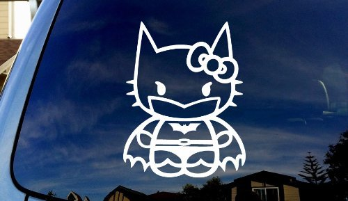 SoCoolDesign Cat Kitty Silhouette Car Truck Sticker Decal 5