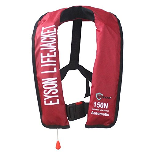 Eyson Slim Inflatable PFD Life Jacket Life Vest Adult Automatic/Manual (ES639731 Red)
