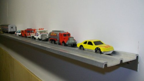 (Dechant's Railroad Express Display Shelf for Matchbox Cars, Diecast Collectibles,or Hotwheels - Set of 2 Shelves)