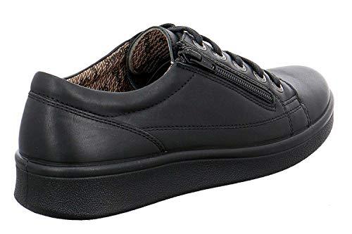 Noir Femme Jomos Chaussures De Lacets Ville Pour À YS6068prq