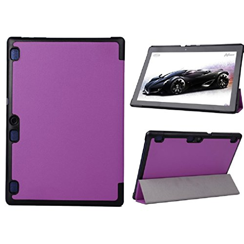 TOOPOOT(TM) Ultra Leather Stand Cover Case for 10.1inch Lenovo TAB2 A10-70 Tablet (Purple)