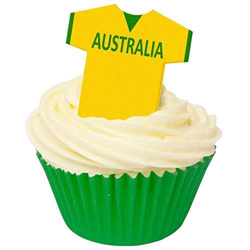 12 Edible Football Shirts- Australia ()