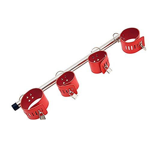 Sunny Rain Family Spreader Bar, Stainless Steel Multifunctional Metal Pipe (Red) by Sunny Rain