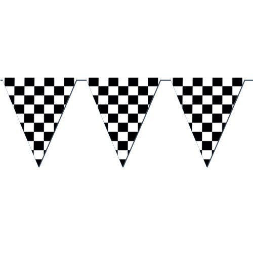 Beistle 50701 Checkered Outdoor Pennant Banner, 17 by 120-Feet ()