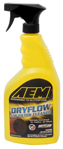 Dryflow Synthetic Filter - AEM 1-1000 Air Filter Cleaner with Trigger Sprayer - 32 oz.