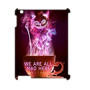 We Are All Mad Here Custom 3D Case for Ipad 2,3,4, 3D Personalized We Are All Mad Here Case