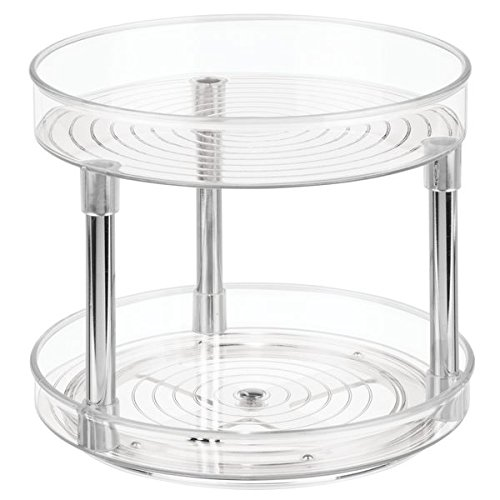 InterDesign Linus Two-Tier Lazy Susan Turntable Spice Organizer Rack for Kitchen - 9