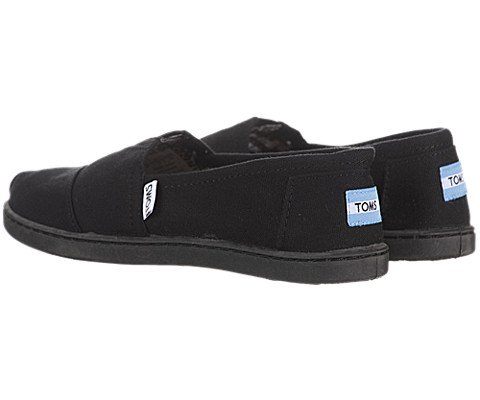 TOMs Unisex Alpargata Slip on Sneakers (Infant/Toddler/Big Kid), Black, 13 M US Big Kid