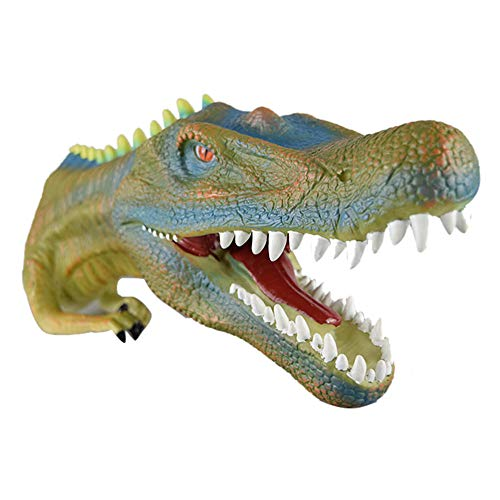 Gbell Cool Dinosaur Hand Puppets Toys for Kids- Large Soft Rubber Realistic Dino Toys Story Interactive Hand Glove for Infant Baby Toddler Boys Girls Adults Indoor Outdoor Toys Gifts,38x18.5x12CM