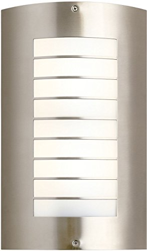 Kichler 6048NI Newport Outdoor Wall 2-Light, Brushed Nickel