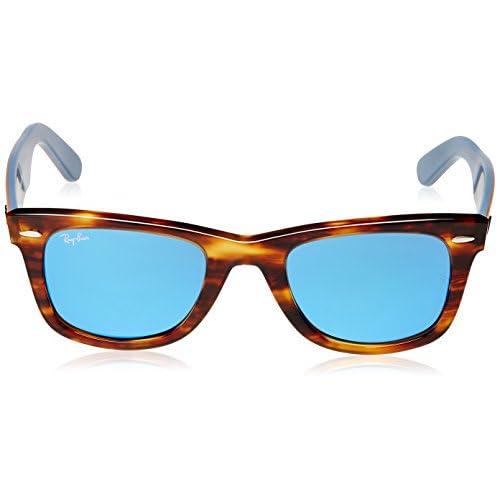 85812afae6 Delicado Ray-Ban Wayfarer - Gafas de sol para hombre, color striped havanna,