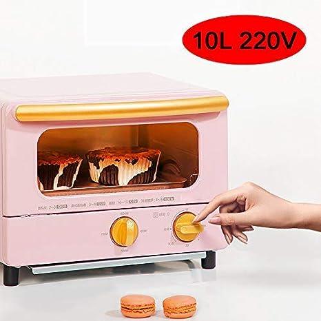HIGHKAS Mini Horno 1000W 10L, máquina Desayuno multifunción para ...