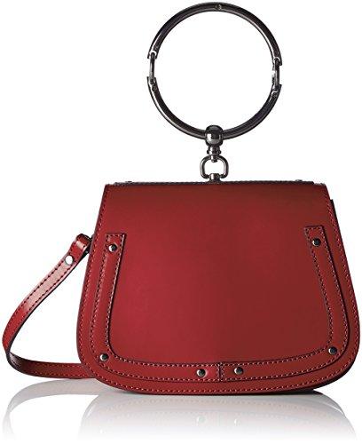 Chicca Borse 8812 - Bolso de hombro Mujer Rojo (Rosso Rosso)