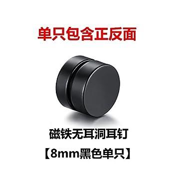 Black Magnet Earrings 8mm
