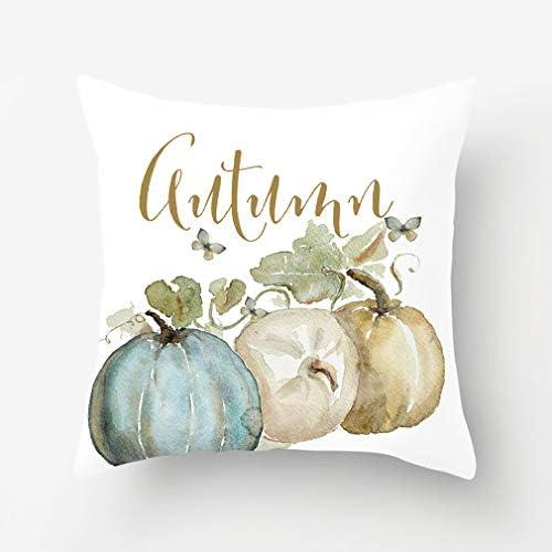 Fall Sofa Decor Pillow Halloween Case Cover Home Throw Waist Pumpkin Cushion NEW