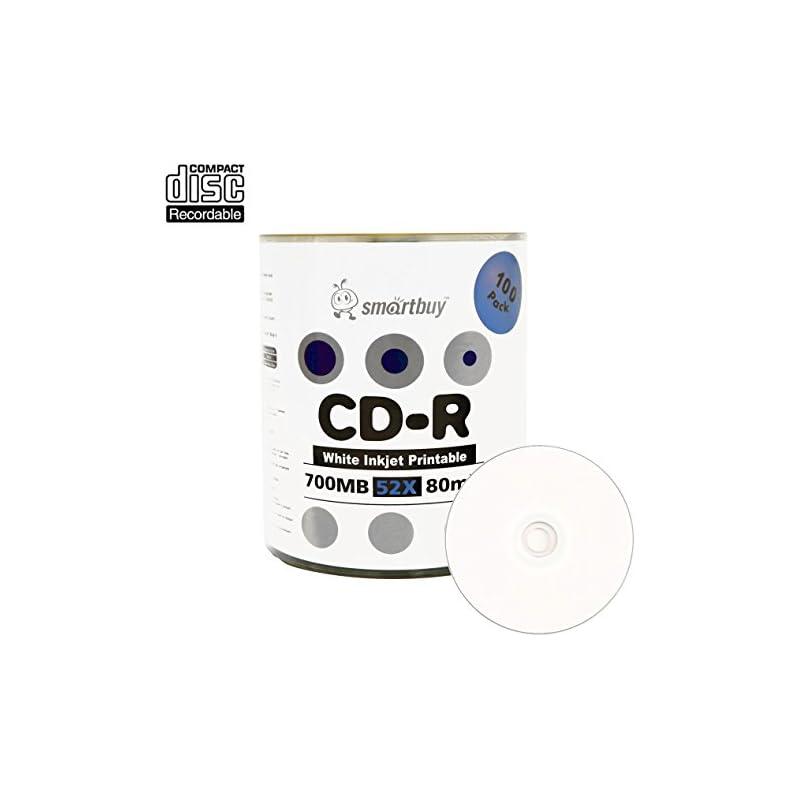Smartbuy 700mb/80min 52x CD-R White Inkj