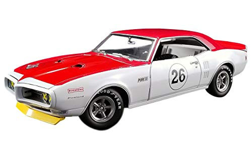 - 1968 Pontiac Trans Am Firebird Tribute #26 Jerry Titus White and Red 1/18 Diecast Car Model by Acme A1805210