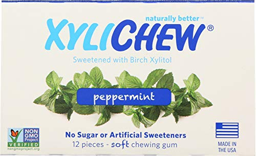 (Xylichew (NOT A CASE) Sugar Free Chewing Gum Peppermint, 12 pc)