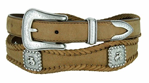 Rodeo Bronc Rider Western Conchos Scalloped Belt 1 1/2