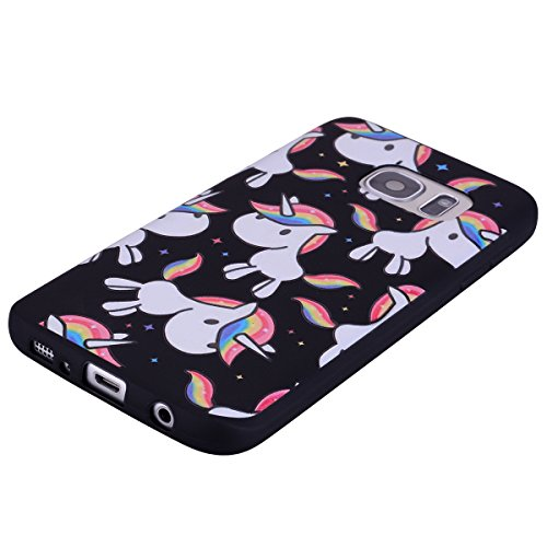 delicate For Samsung Galaxy S7 Case Silicone Black,OYIME