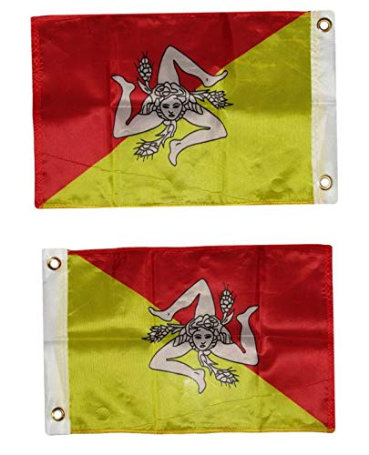 Mikash 12x18 12x18 Country of Sicily Boat Motorcycle Flag Grommets (Fade Resist | Model FLG - 3487 ()