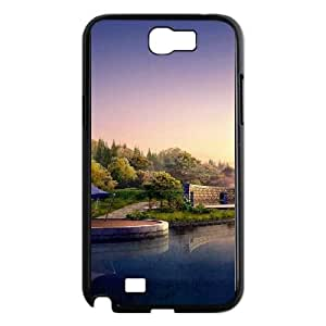 Japan Lake Landscape Samsung Galaxy N2 7100 Cell Phone Case Black phone component AU_613534