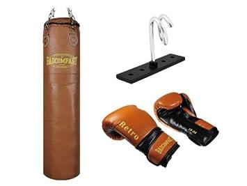Deckenhalterung und Heavy Duty Vierpunkt-Stahlkette Fighter Box-Set inkl PU Boxhandschuhe Boxsack 150 x 35cm ungef/üllt