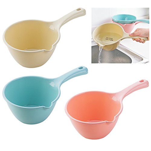 3PCS Plastic Bathing Ladle Spoons Kitchen Accessories Bathroom Water Scoop Cup Baby Shampoo Bath Spoon Home Essential