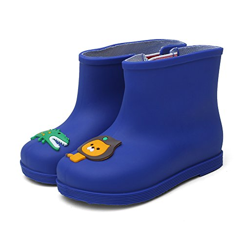 CIOR Little Kids Waterproof Animal Rain Boots Various Colors For Girls Boys Toddler Water Shoes,TYX03, Blue,26 - Image 1