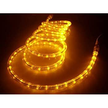 Amazon 50ft rope lights brilliant amber led rope light kit 50ft rope lights brilliant amber led rope light kit 10 led spacing aloadofball Image collections