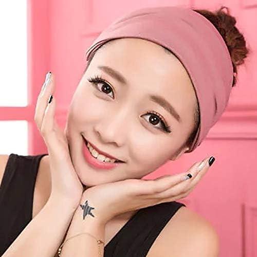 Qinlee Einfarbig Haarb/änder Damen Stirnband Yoga Sport Kopftuch Bandana Elastic Breit Stirnb/änder M/ädchen Frisuren Haarband