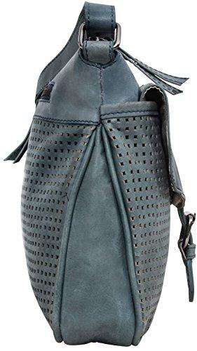 """Gusti Leder studio """"Marisol"""" Bolso de Mano de Cuero Genuino Mujer Tiempo libre Shopper Compras Vintage Retro Fiesta Piel de Cabra Azul Turquesa 2H62-29-11"""