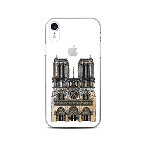 Notre-Dame in Heart Clear Silicone Case Compatible with Apple iPhone World Architecture Remains iPhone Case (iPhone 4 4S) (Notre Dame Iphone 4 Case)