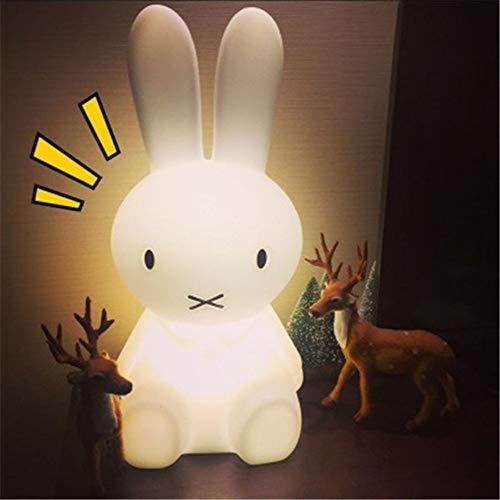 XYDEXHN Luz De Noche Encantadora Forma De Conejo Atmósfera Luz Mesita De Noche Lámpara De Escritorio Habitación De Bebé...