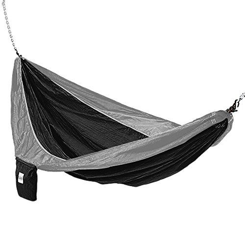 lk Lightweight Portable Double Hammock, Black/Grey ()