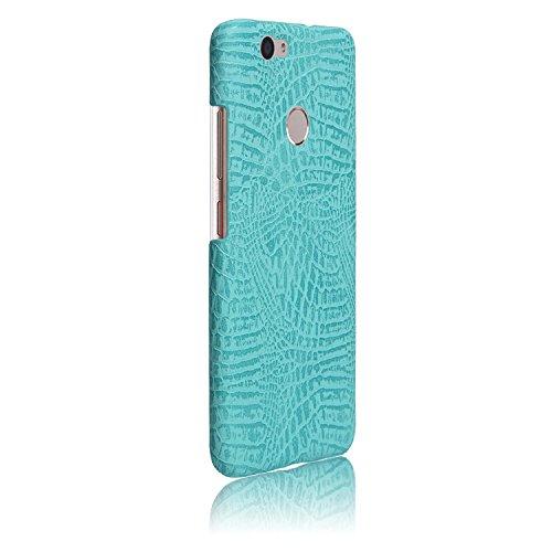 YHUISEN Huawei Nova Caso, patrón de piel de cocodrilo clásico de lujo [ultra delgado] cuero de la PU antirayado PC cubierta protectora de la caja dura para Huawei Nova ( Color : White ) Light Green