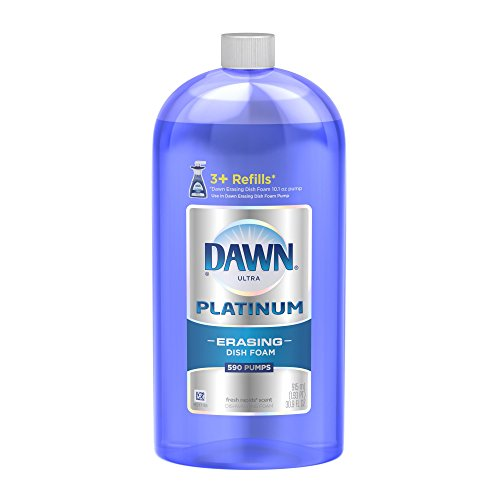 Dawn Dish Soap, Direct Foam Dishwashing Foam, Refill, Fresh Rapids Scent, 30.9 Fluid Oz (Pack of - Dawn Direct Dishwashing Foam