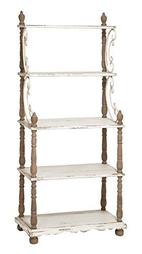 Bakers Rack Oak Shelf (Deco 79 Wood Shelf, 75 by 32-Inch)