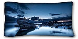 Custom Cotton & Polyester Soft Nature Custom Cotton & Polyester Soft Rectangle Pillow Case Cover 20x36 inches (One Side) suitable for King-bed