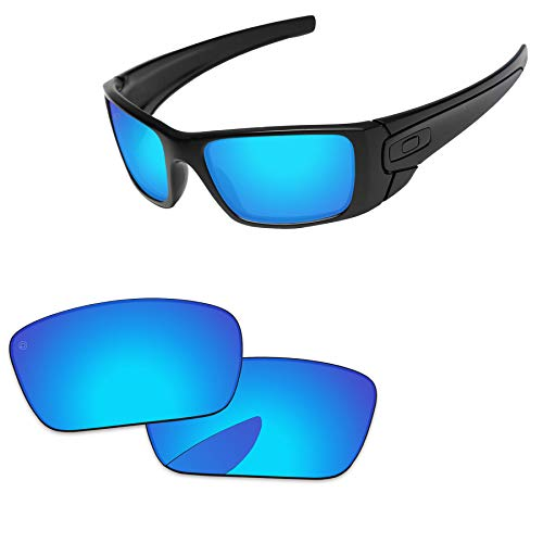(PapaViva Lenses Replacement for Oakley Fuel Cell Pro+ Ice Blue Polarized)