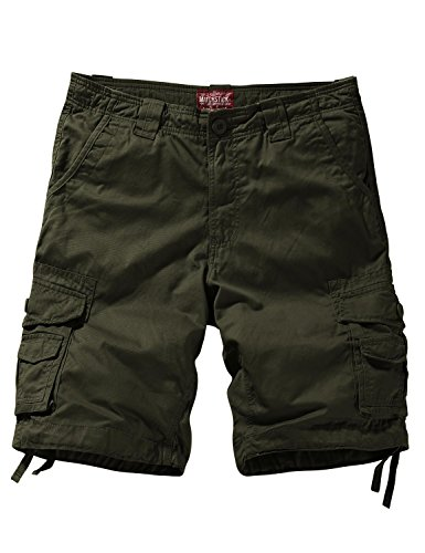 Match Men's Comfort Cargo Short (Label Size XL/34 (US 32), 3058 Army Green)