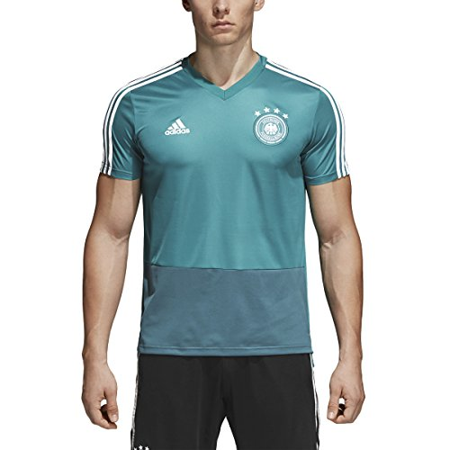 adidas Mens Soccer Germany Training Jersey (X-Large) EQT Green/Real Teal/White