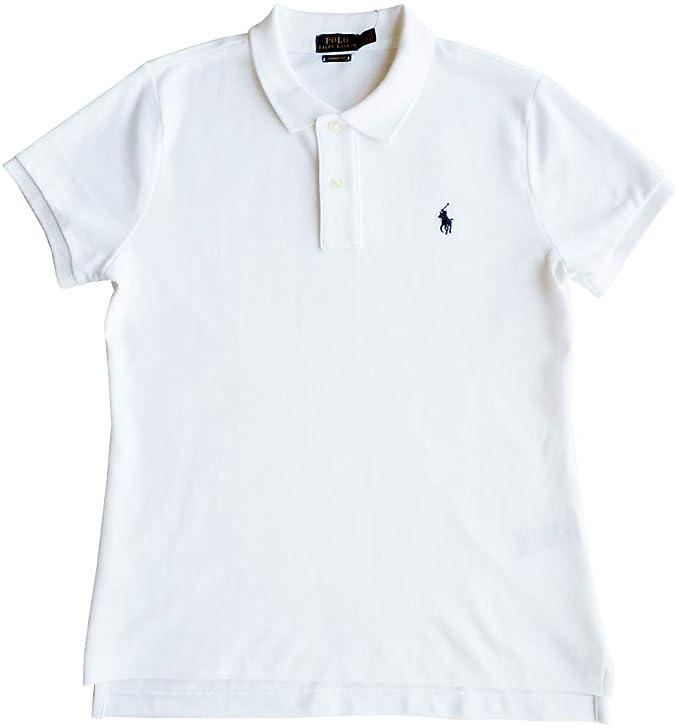 Ralph Lauren Polo Camisa de Polo T.M, Polo Flequillo, Blanco ...