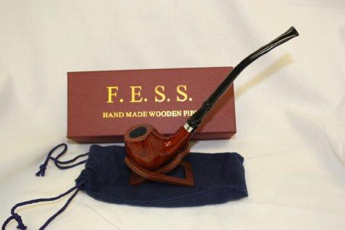 F.e.s.s. Small Cherry Bulldog Churchwarden Wooden Tobacco Pipe