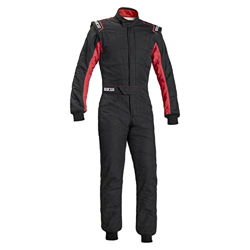 (Sparco Sprint RS-2.1 Racing Suit 001091 (Size: 56, Black/Red) )
