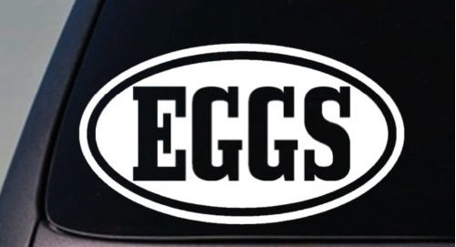 Eggs sticker decal easter chicken bunny egg 6