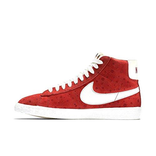 Nike Blazer Mid-cut Damesmode Sneakers Helder Karmijnrood / Wit